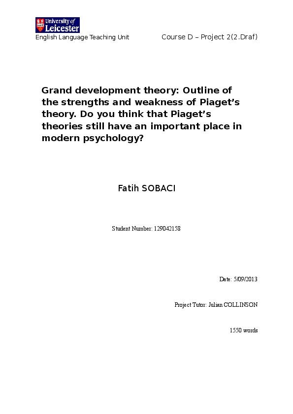 DOC) Grand development theory: Outline of the strengths and