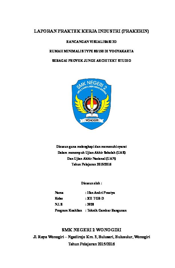 Doc Laporan Pkl Smk Teknik Gambar Bangunan 2015 Ifan Andri Prastya Academia Edu