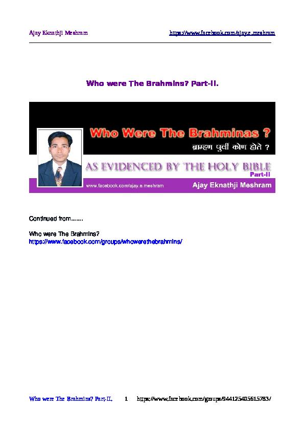 PDF) Who-Were-Brahmins-2 | AJAY MESHRAM - Academia edu