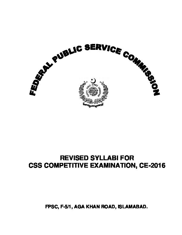 PDF) CE-2016 Syllabus | M Raheel Akram - Academia edu