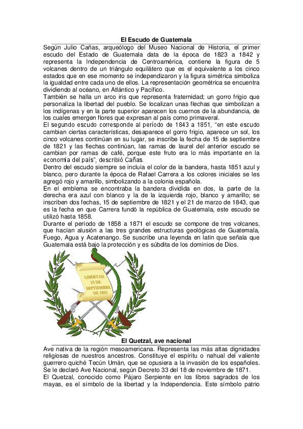 Pdf Historia De Los Simbolos Patrios De Guatemala Paola