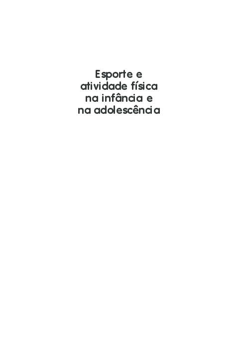 20d665929 PDF) Esporte e atividade física na infância e na adolescência Uma ...