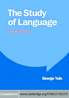 PDF) 1378843468 6083The Study Of Language (4th Edition