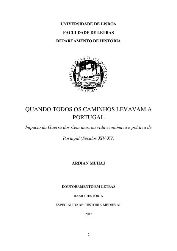 PDF) Quando todos os caminhos levavam a Portugal Impacto da