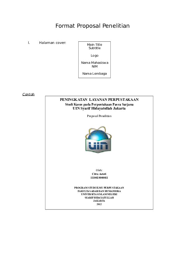 Doc Format Proposal Satria Rahmadi Academia Edu