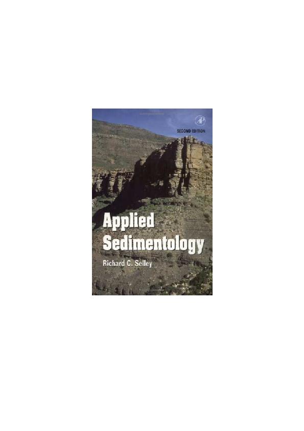 Pdf Applied Sedimentology By Richard C Selley Cristian Camilo Manrique Gomez Academia Edu