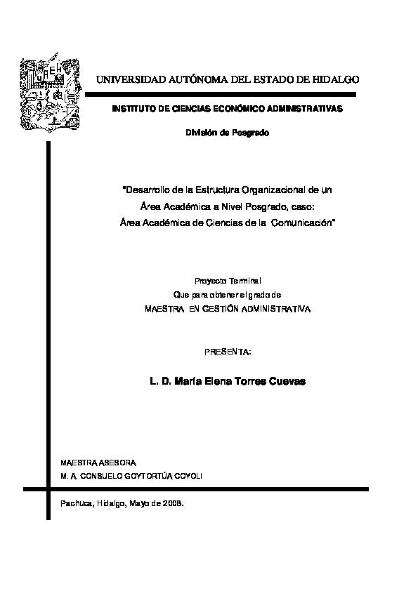 Pdf 1 Desarrollo De La Estructura Organizacional Nohemi
