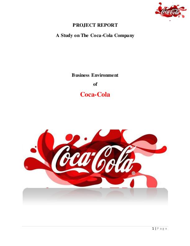 PDF) Assignment on Coca-Cola Company | Ruhul Amin and Amirul Islam