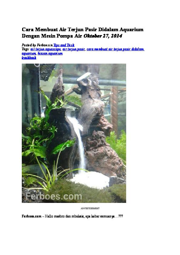 87 Gambar Air Terjun Aquarium HD