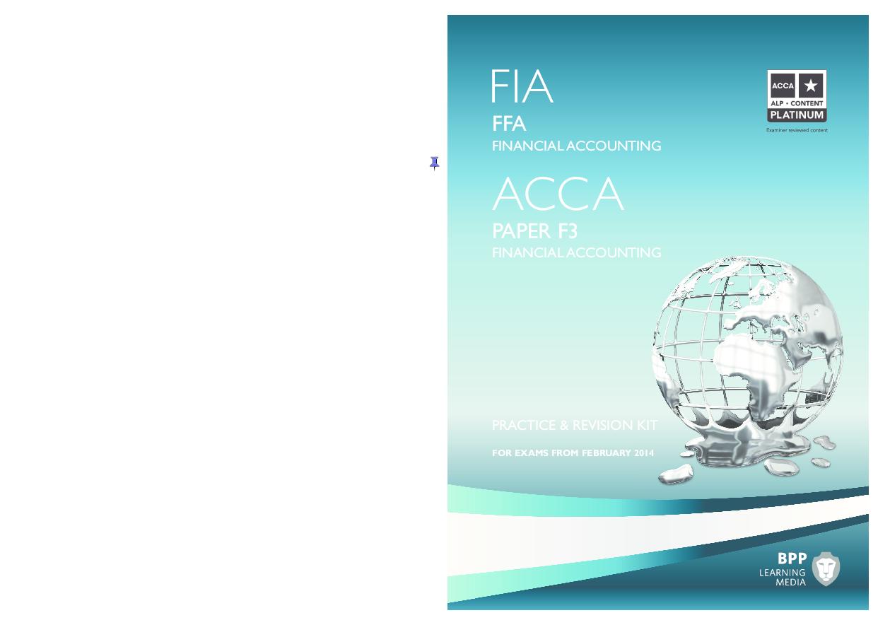PDF) ACCA F3 Revision Kit (2015) | Yujin Park - Academia edu