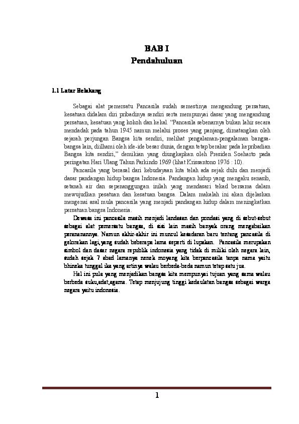 Doc Pancasila Sebagai Alat Pemersatu Bangsa All Kwon Yuri Academia Edu