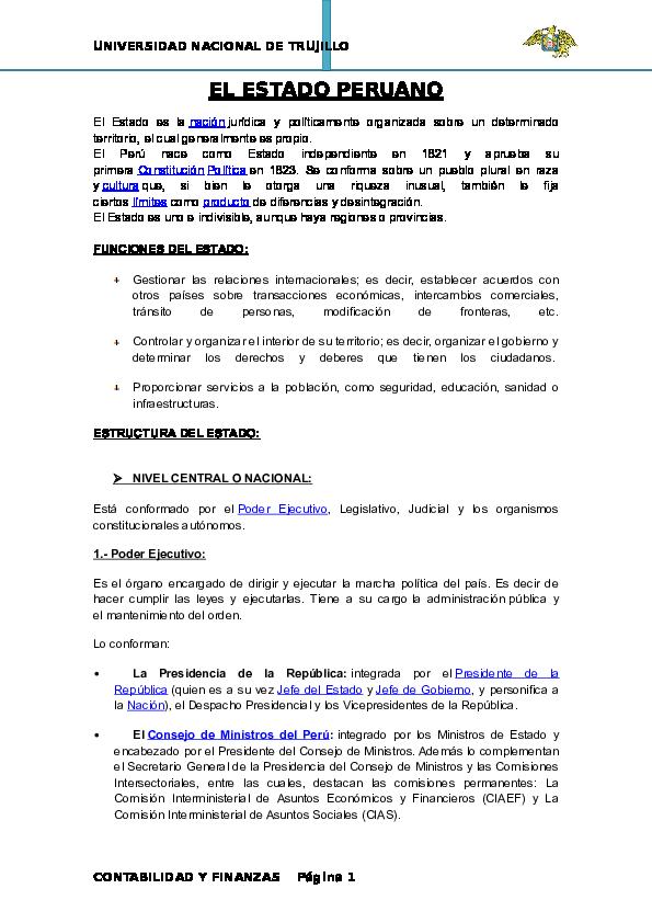 Doc El Estado Funciones Y Estructura Karen Rj Academia Edu