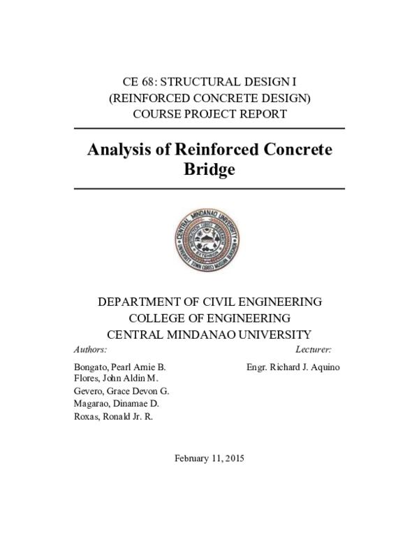 PDF) Analysis of Reinforced Concrete Maluos Bridge | Grace Devon