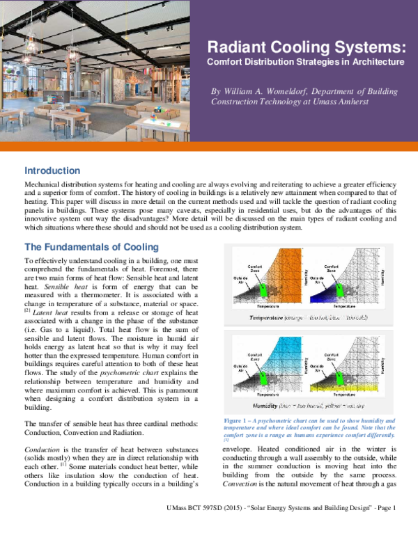 Pdf Strategies In Architecture Radiant Cooling Systems Bill Womeldorf Academia Edu