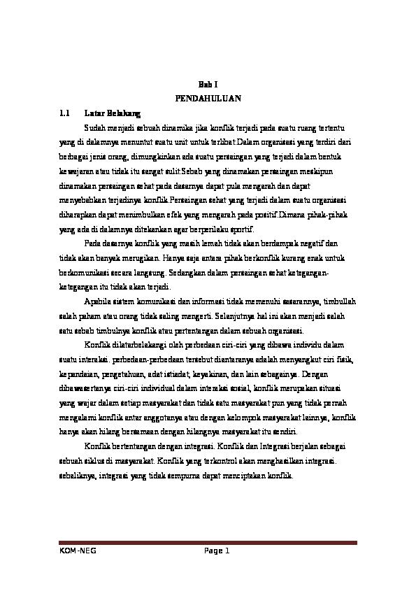 Makalah Konflik Dan Negosiasi Ii