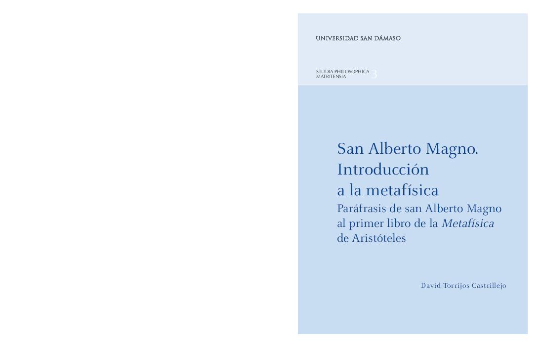 Pdf San Alberto Magno Introducción A La Metafísica
