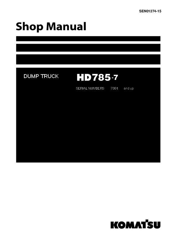 PDF) shop manual HD 785-7 | fajar janiari - Academia edu