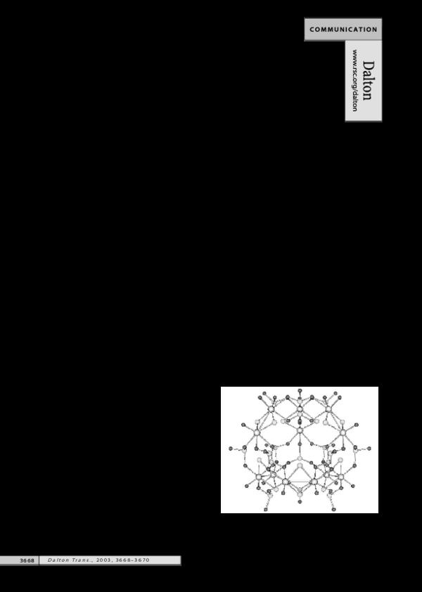 PDF) A novel polyoxo(thio)molybdenum(V) sulfite compound