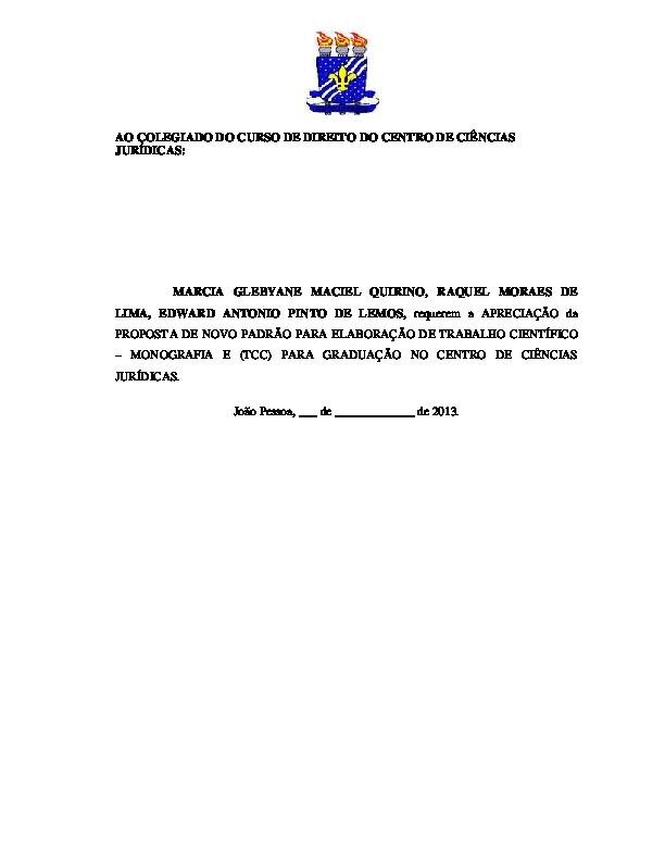 Pdf Manual De Elaboração De Trabalhos Científicos Ufpb