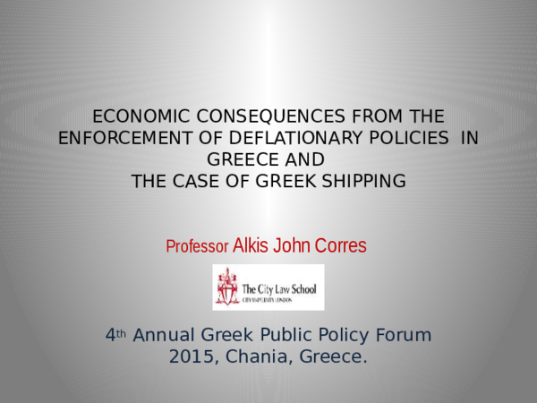 PPT) ECONOMIC CONSEQUENCES OF AUSTERITY POLICIES IN GREECE | Alkis