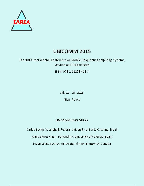 PDF) UBICOMM 2015, The Ninth International Conference on