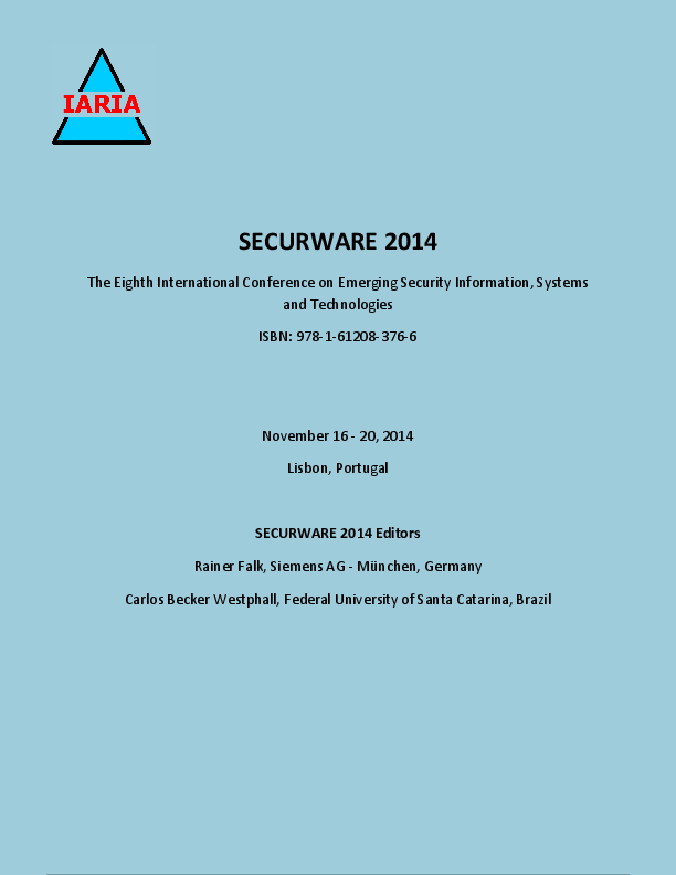 PDF) SECURWARE 2014, The Eighth International Conference on Emerging