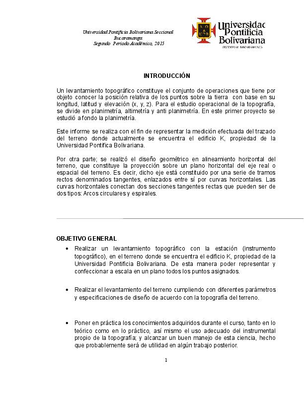 Doc Informe Levantamiento Por Radiacion Autoguardado