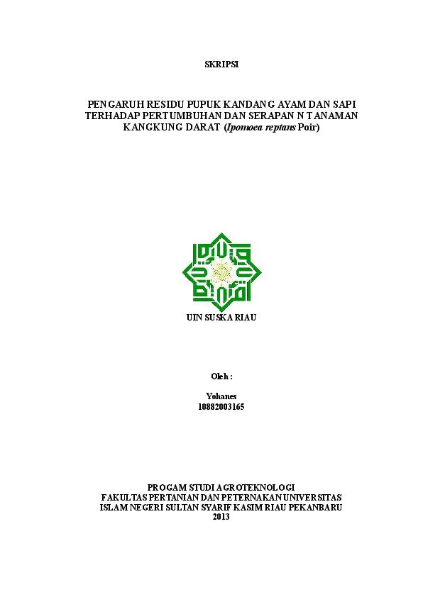 Skripsi Pertanian Agroteknologi Doc Pejuang Skripsi