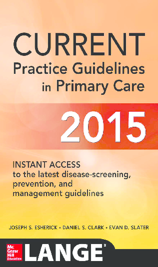 PDF) CURRENT Practice Guidelines in Primary Care 2015 | Shafinewaz