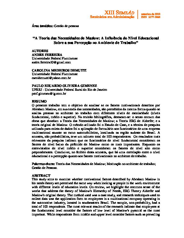 Pdf Teoria De Maslo Rodrigo Armando Academia Edu