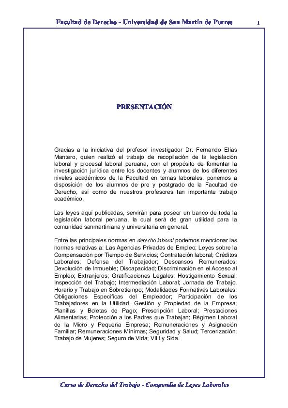 Pdf Compendio Laboral Carla Cassaro Academia Edu