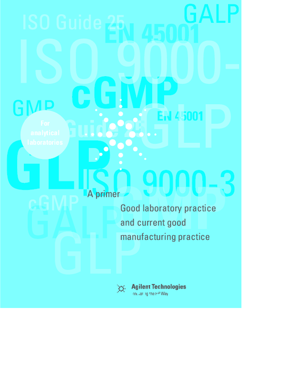 PDF) Good Laboratory Practice and Current Good Manufacturing