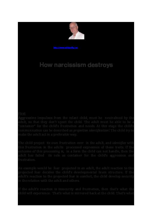 PDF) How narcissism destroys | Rune Fardal - Academia edu