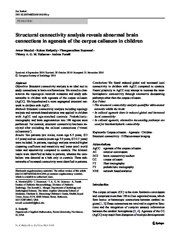 agenesia radiale defining