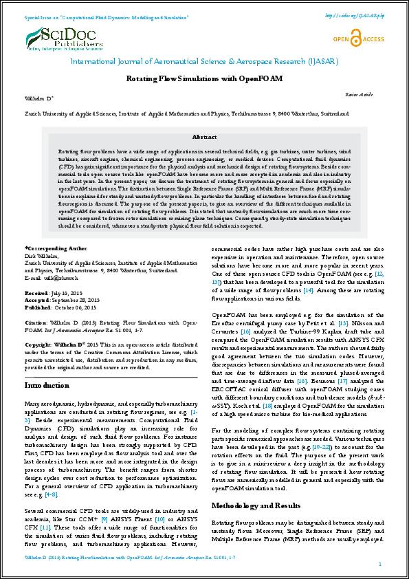 PDF) Rotating Flow Simulations with OpenFOAM | International