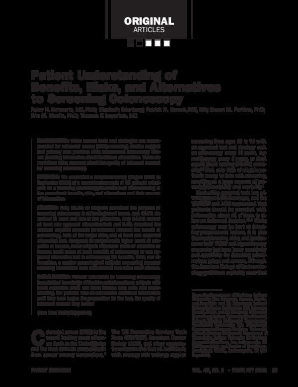 PDF) Patient Understanding of Benefits, Risks, and