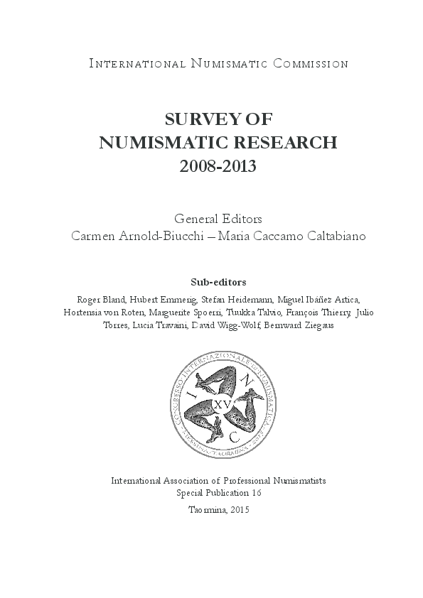 Survey of Numismatic Research 2008-2013 - Islamic Section | Vladimir