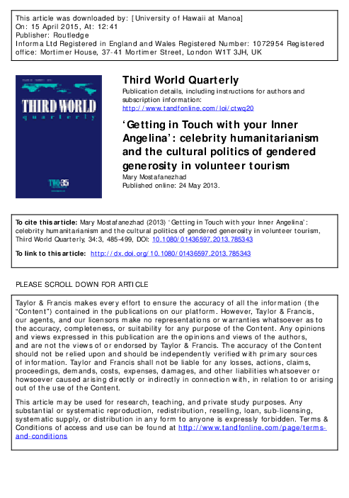 PDF) 'Getting In Touch With Your Inner Angelina': Celebrity