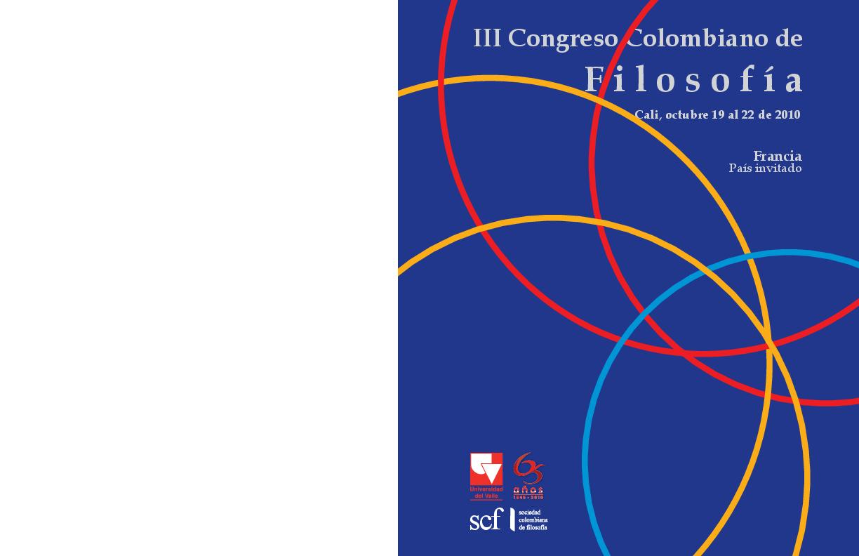 Actriz Porno Qu Studio Bioquimica pdf) memorias iii congreso colombiano de filosofía   césar