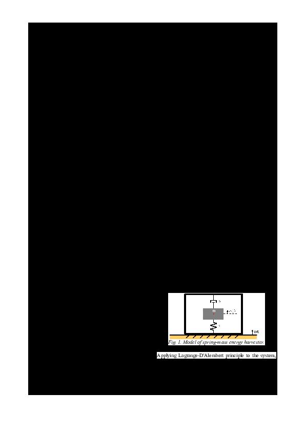 PDF) Energy harvesting using piezoelectric cantilever