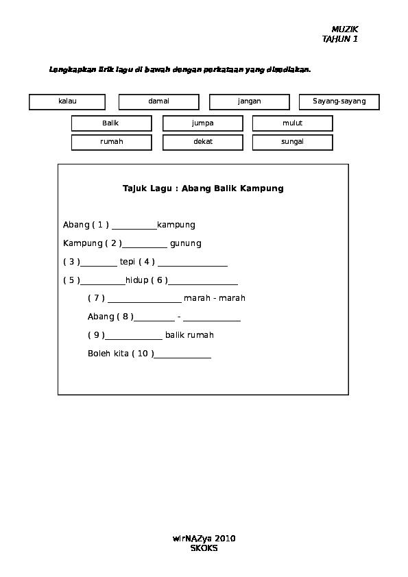 Doc 144308084 Muzik Ujian Akhir Tahun 1 Lieyna Tan Academia Edu