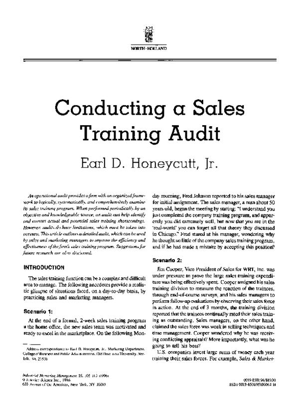 Sales Training Pdf