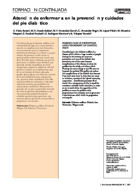 archivo pdf de diabetes de pies
