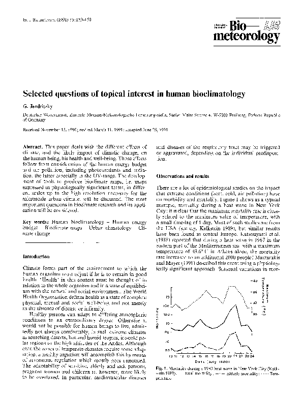 Pdf Selected Questions Of Topical Interest In Human