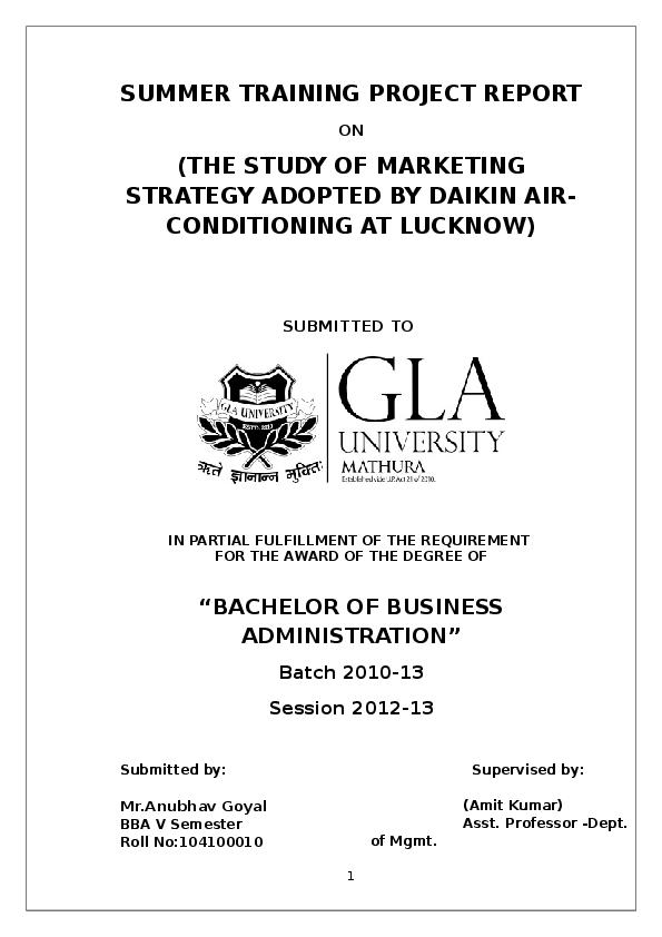 DOC) DAIKIN INDUSTRY | ANMOL AG - Academia edu
