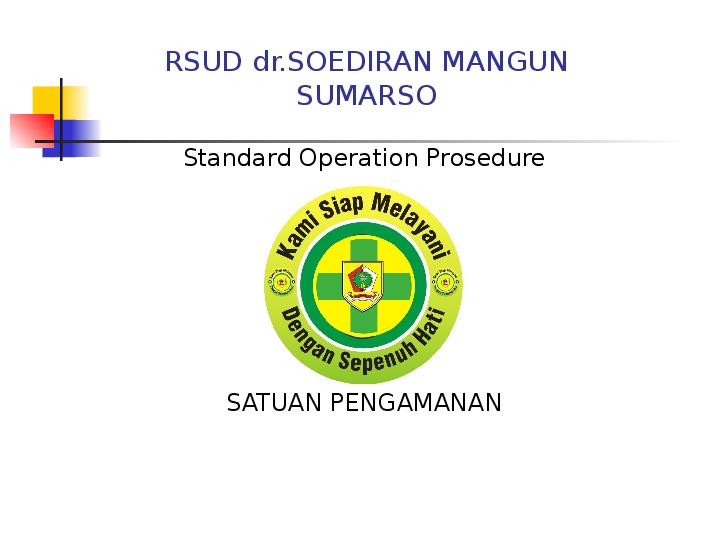 Ppt Sop Satpam Di Rs Bambang Susatyo Academia Edu