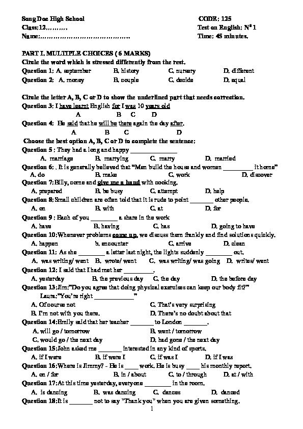 DOC) BAI VI-T S- 1 - HK1 - 125 | ô tô - Academia edu