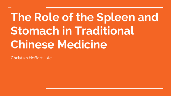 PDF) The Role of the Spleen and Stomach in Traditional