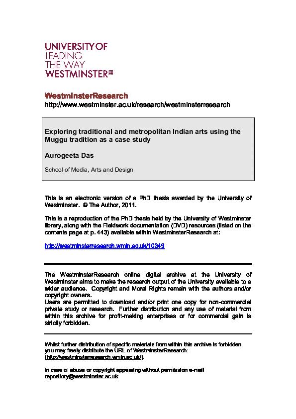 PDF) Exploring traditional and metropolitan Indian arts