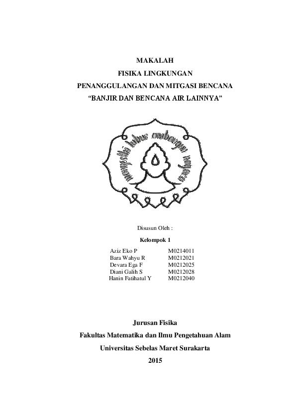 Pdf Makalah Mitigasi Bencana Banjir Devara E Fausta Academia Edu